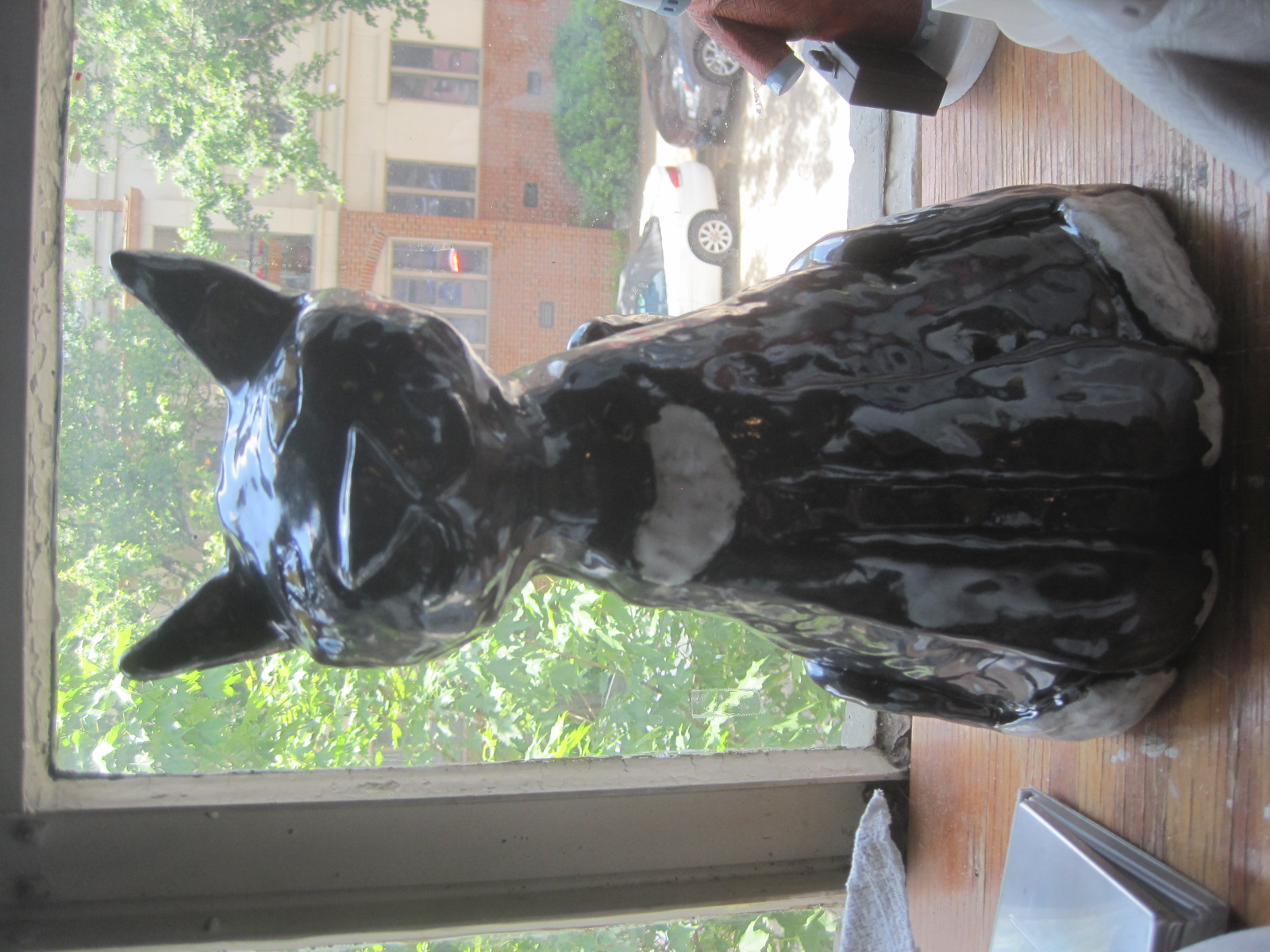 This cat, Louie,is my most recent piece. He isa commissioned sculpture made for the outdoors. He is meant as a memorial piece to a couple who lost their beloved pet.