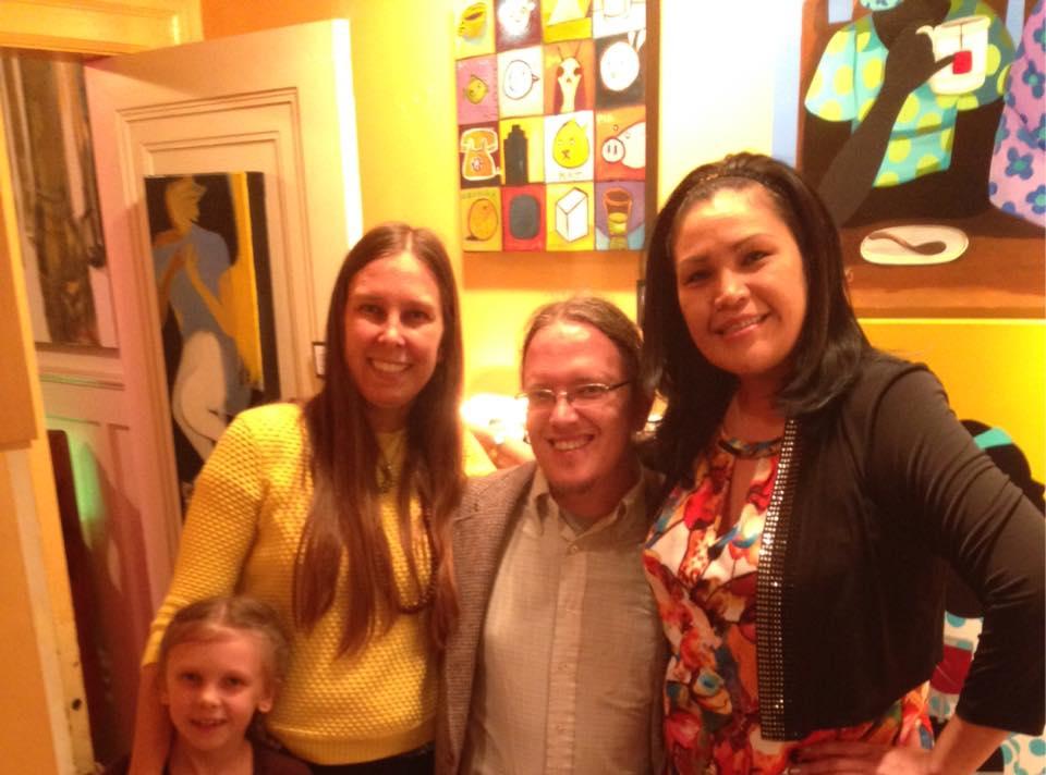 Ingrid, Anna Podris, Keith, gallery manager Erika SittingUp