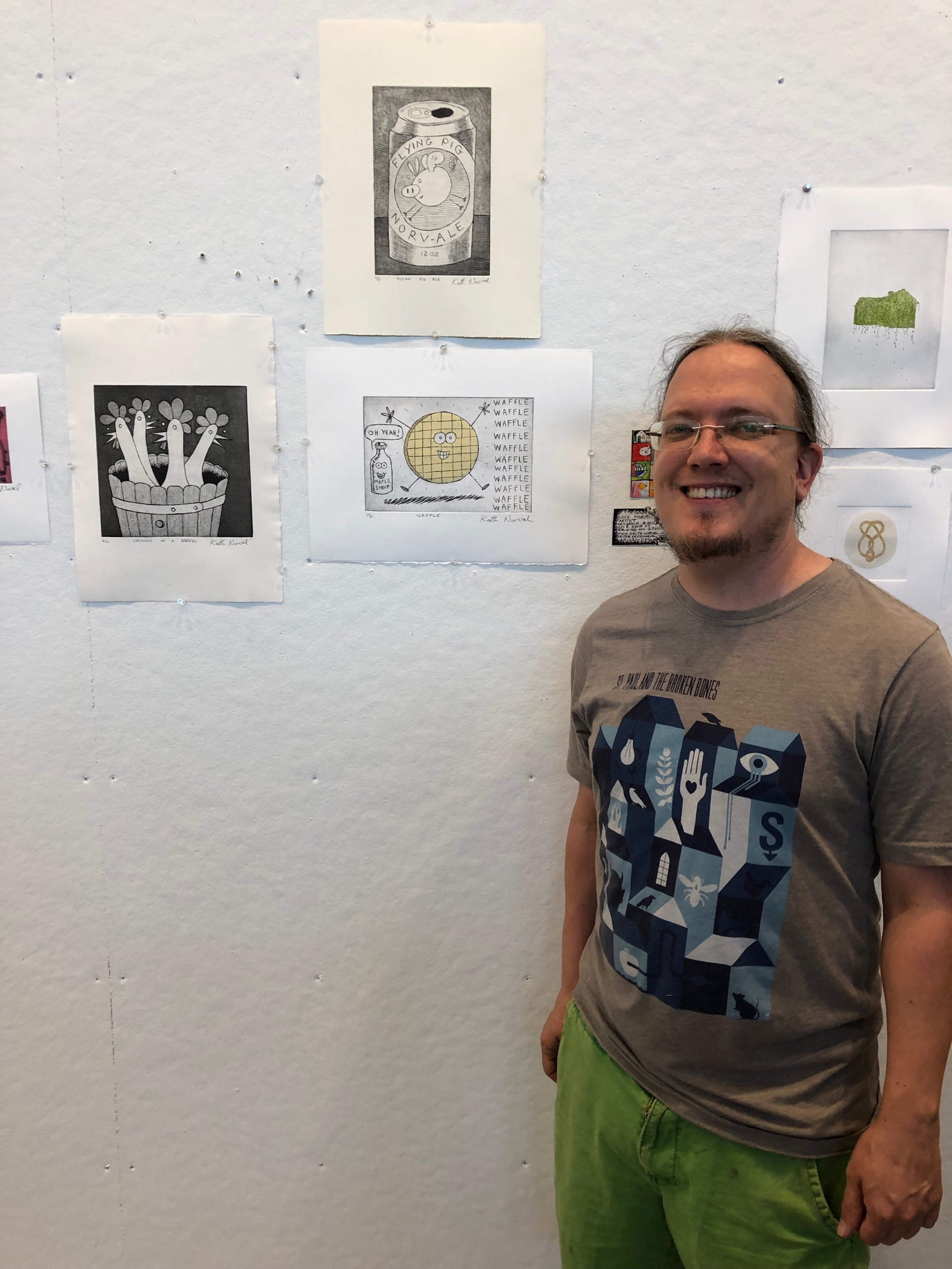 My finished prints at the art show at Penland.