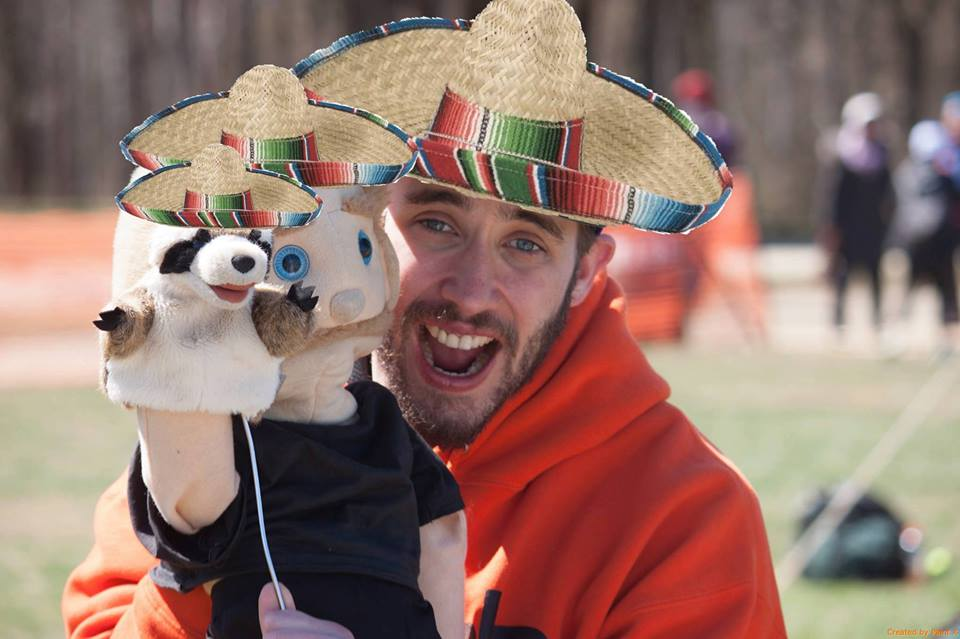 Ryan West, pictured here with Winston and Rocco.The man loved puppets. Poorly executed photoshop by Clover West.