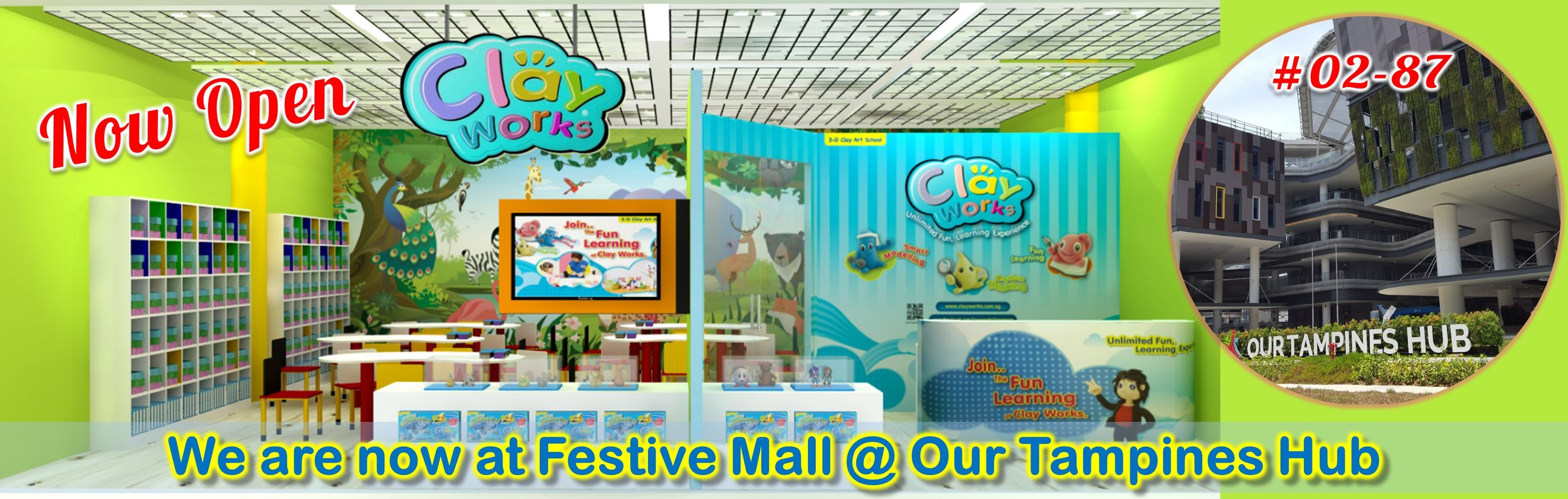 We are now at Festive Mall @ Our Tampines Hub