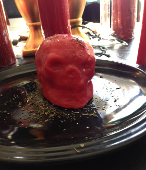 Red Skull Candle for love work.