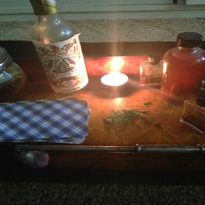 Magical oils, herbsand tarot cards.