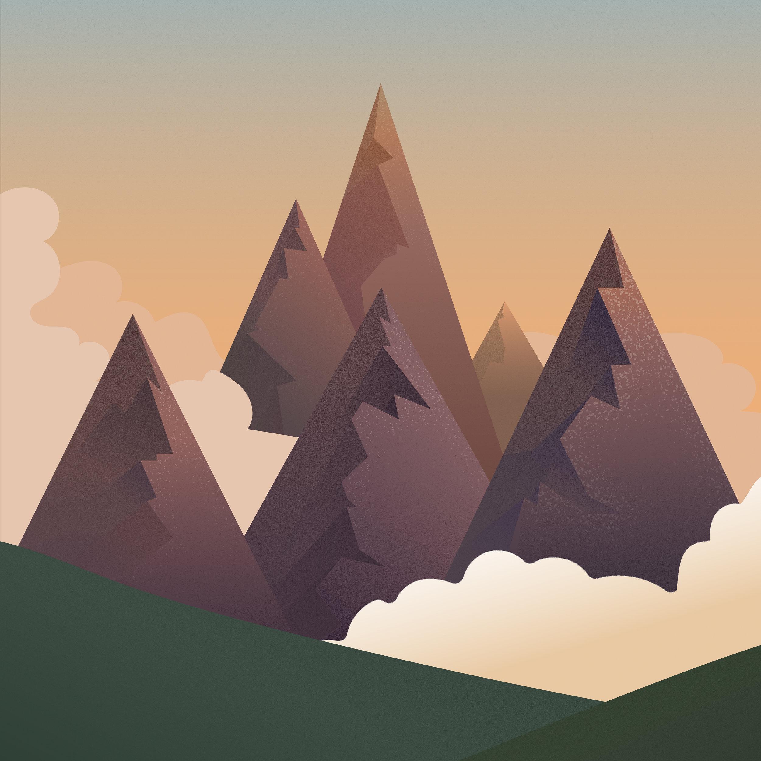 S6 Mountains Dusk Throw Pillows.jpg