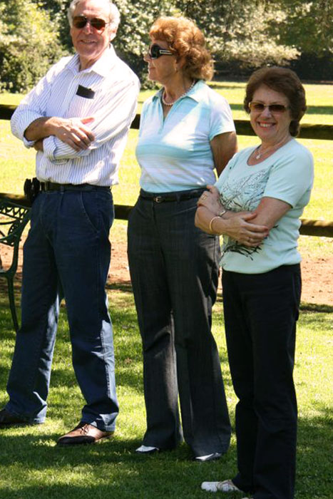Mary Liley with brother Peter and sister-in-law Jenny