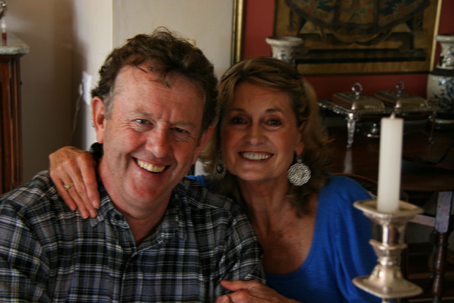 Alec Hogg and Cheryl Goss