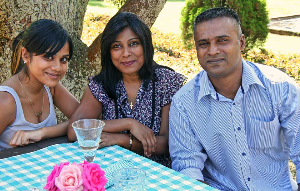 Shannon, Ann and Cyril Pillay
