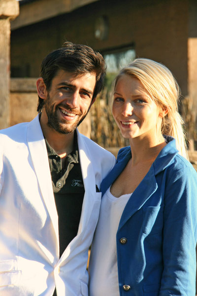 Pascal Ellinas and Sarah Pietersen