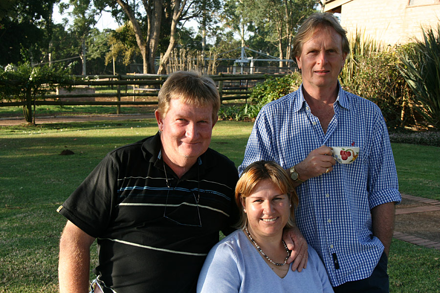 Duncan McKenzie and Wendy Whitehead with Keith