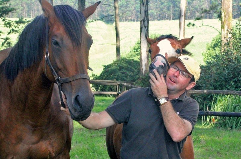 Brett Walker with Battalia and foal by Atso