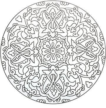 Design with rumis surrounding central hatai motif