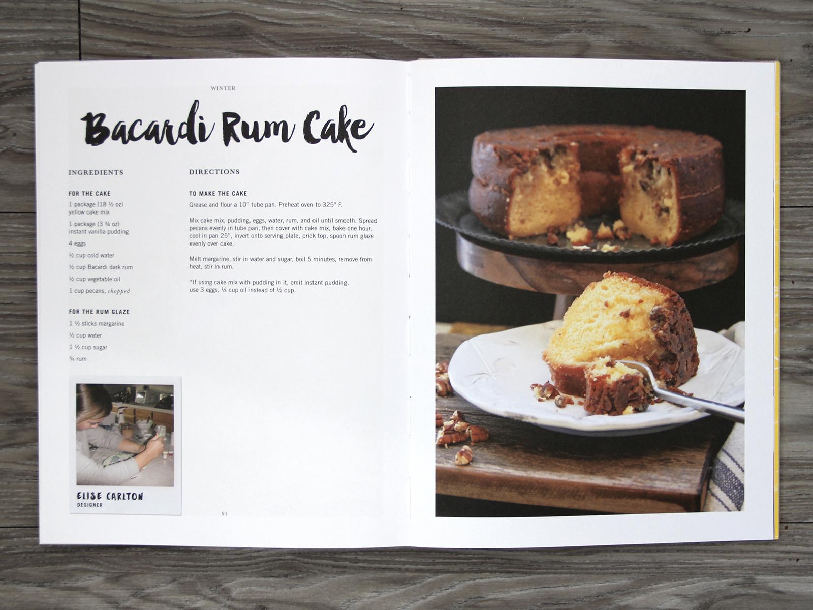 Bacardi Rum Cake Spread