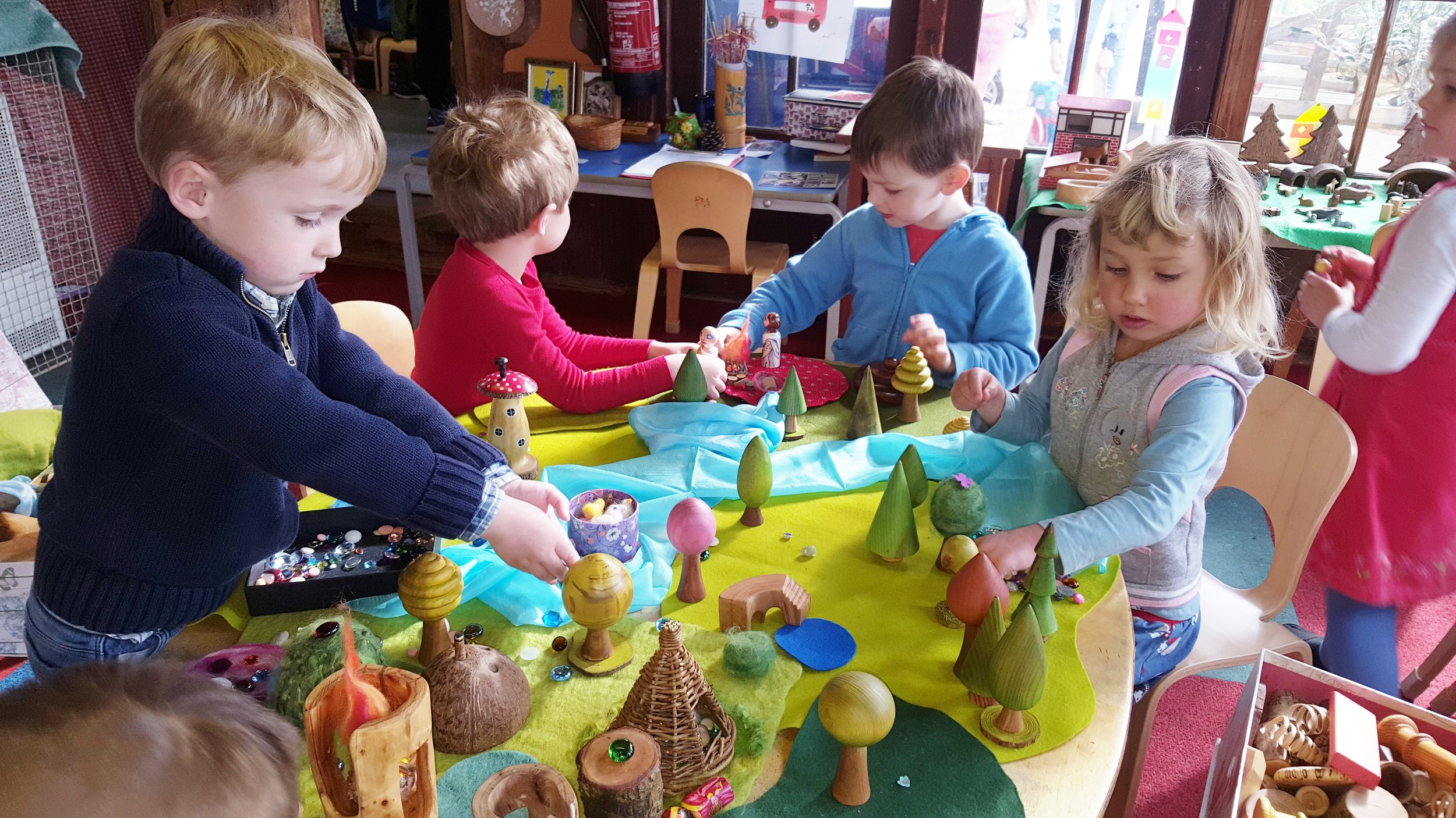 One of the children's favourite activities is creating little worlds with the beautiful wooden Forest Set
