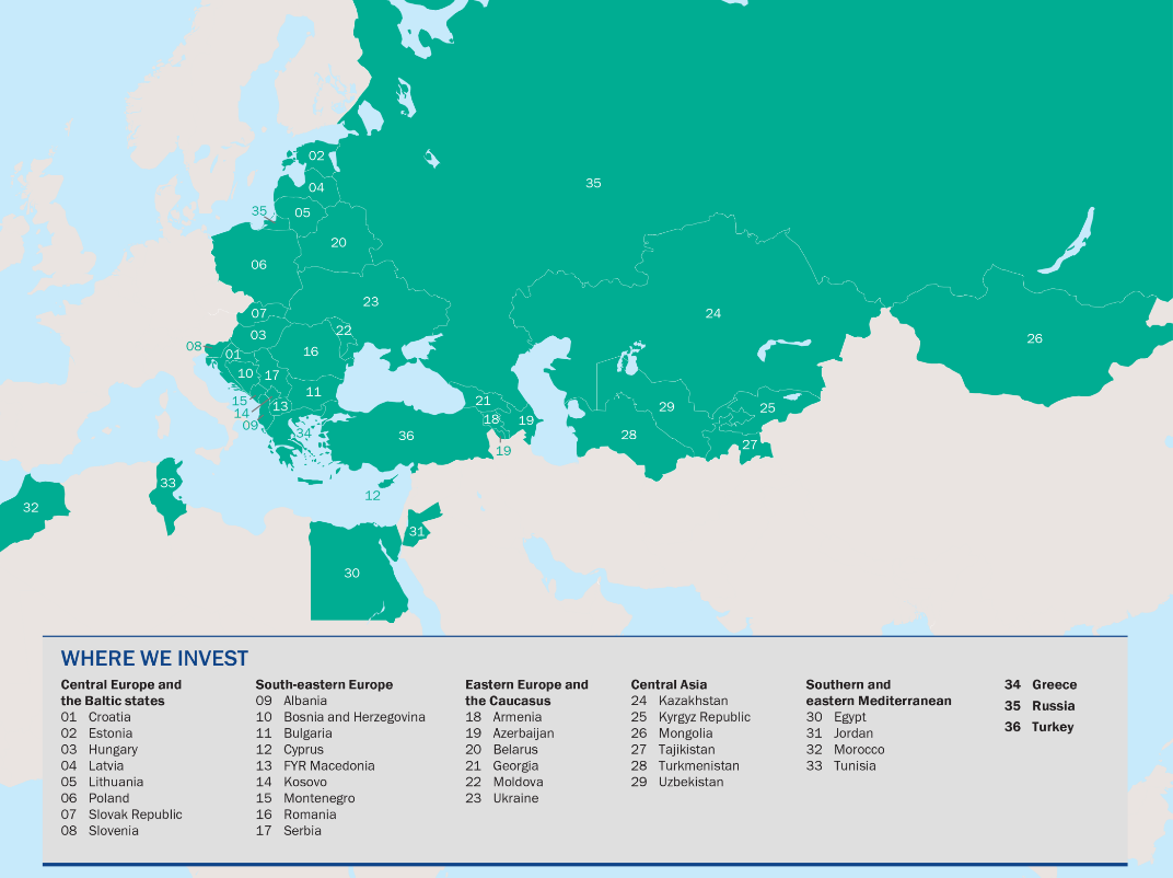 EBRD: Countries of operations
