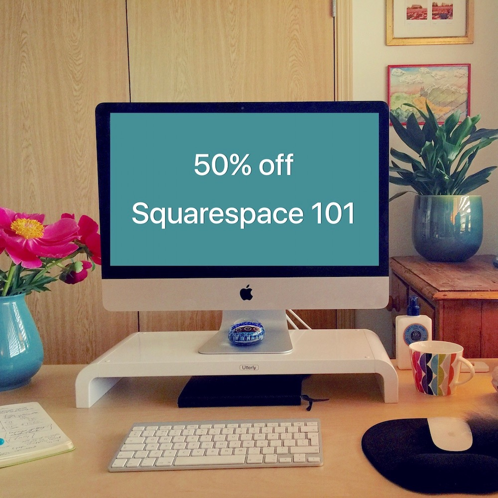 Special Valentine's Offer: 50% off Squarespace 101 | kerstinmartin.com