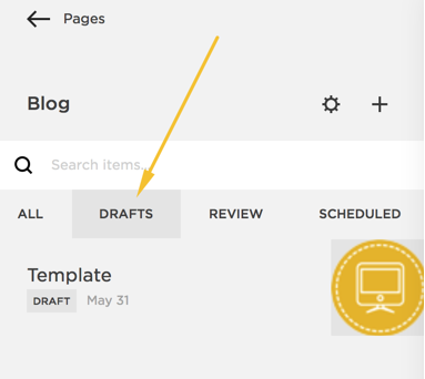 Squarespace: How to create a blog post template by duplicating a blog post.