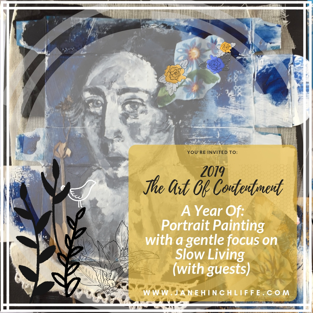 The Art of Contentment - A Year of Portrait Painting with a gentle focus on Slow Living - with guest Kerstin Martin