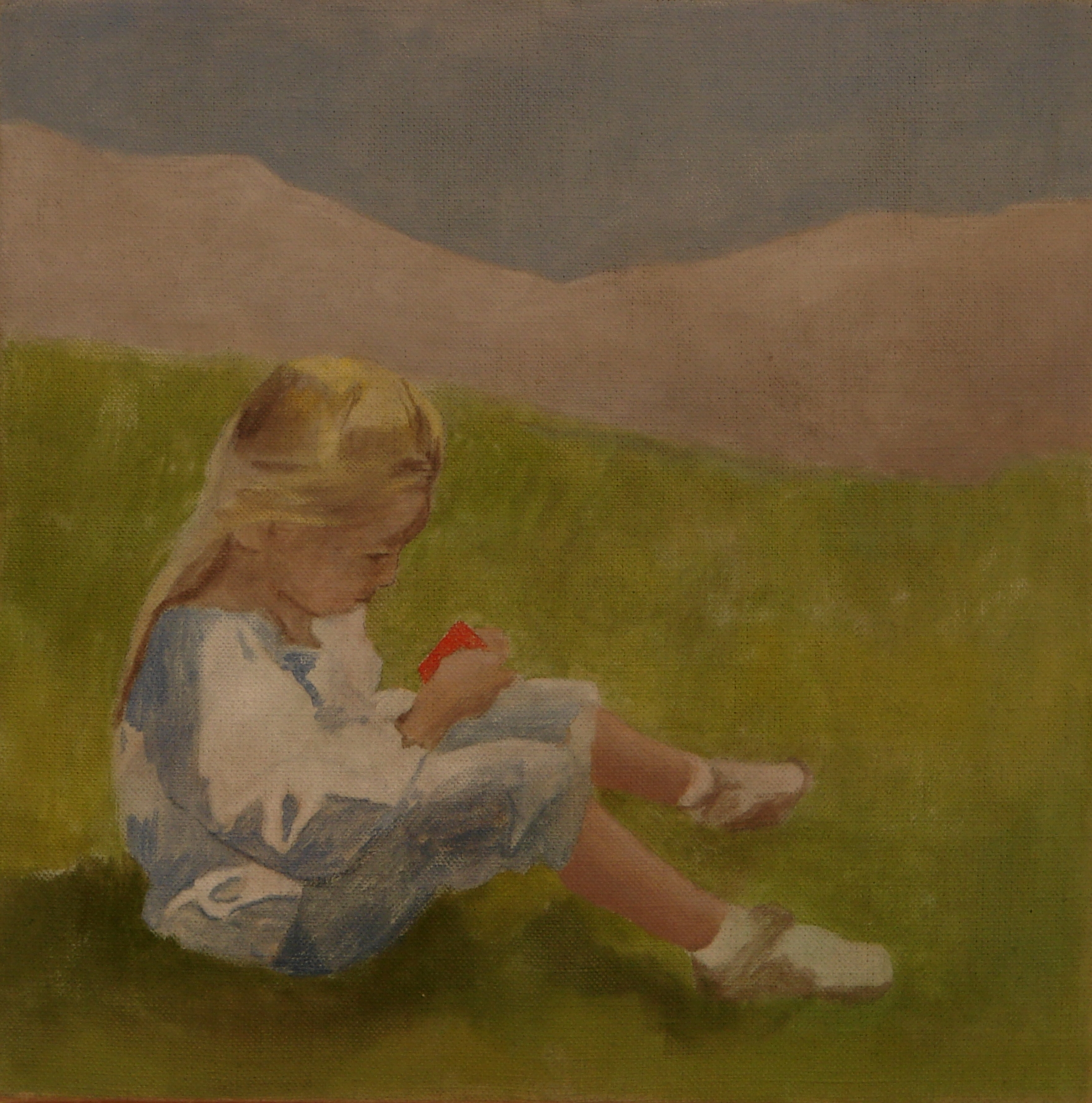"Ben Walker ""Léto""(Summer) oil on linen 46cmx46cm £700 SOLD"