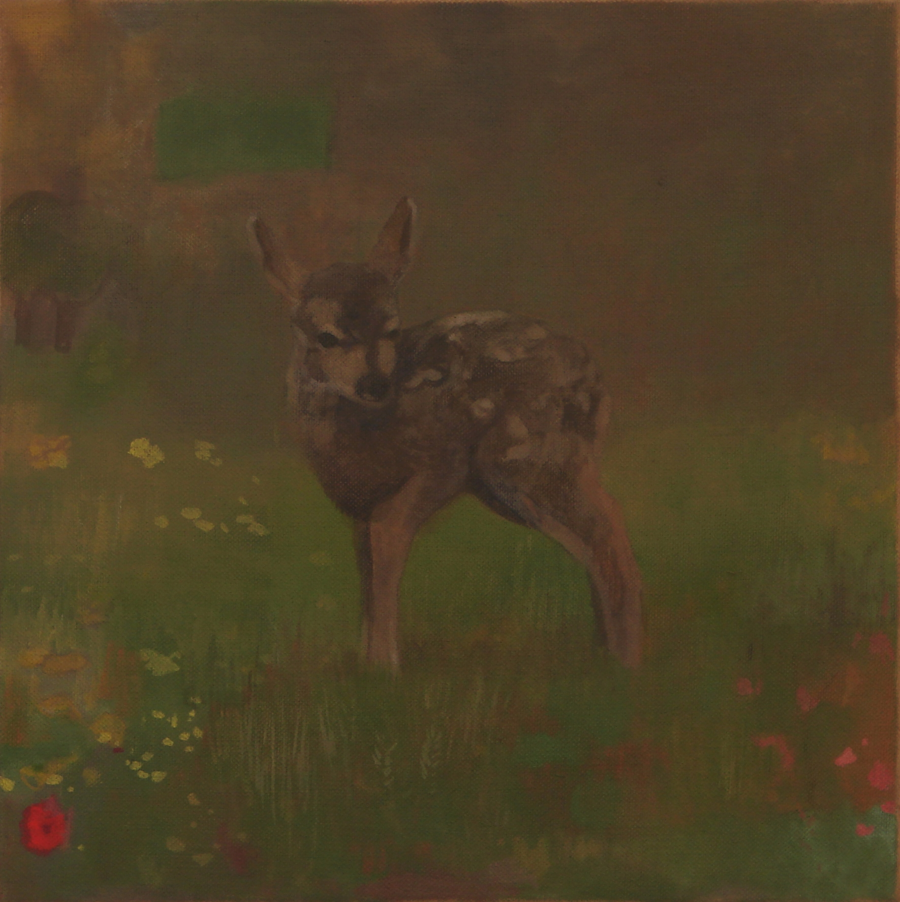 "Ben Walker ""Srnka (I)"" (Doe) oil on linen 46cmx46cm £700"
