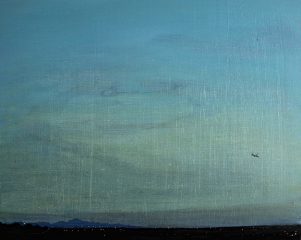 ©Ann Quinn 'Flight Over Yazd' oil on board, 42cmx32cm £800