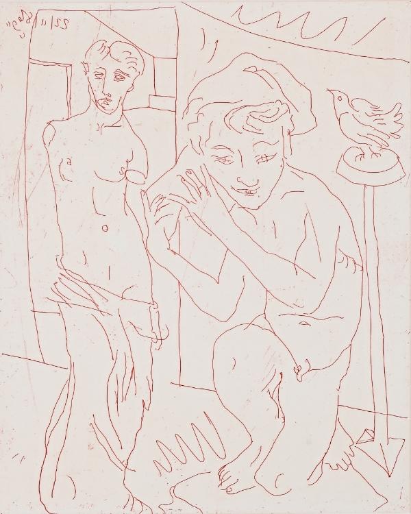 ©Adrian Wiszniewski 'Living Room' etching, 39 x 33cm £350