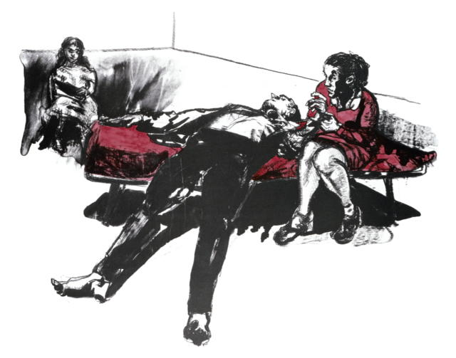 'Devotion' Lihtograph A/P by Paula Rego £3000.00