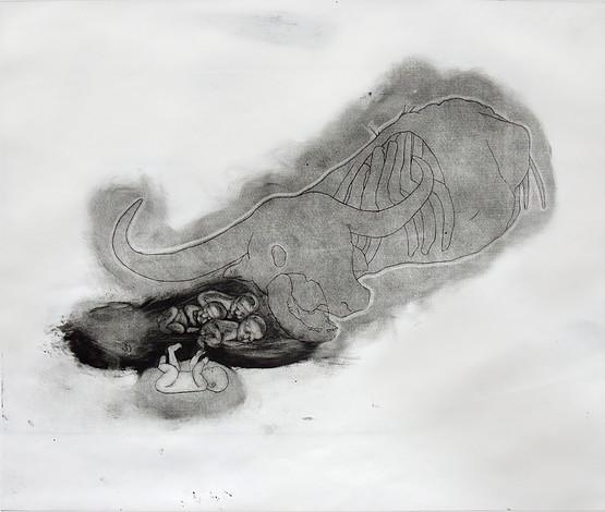 Mizaru, Kikazaru & Iwazaru in shade of a Corpse 2