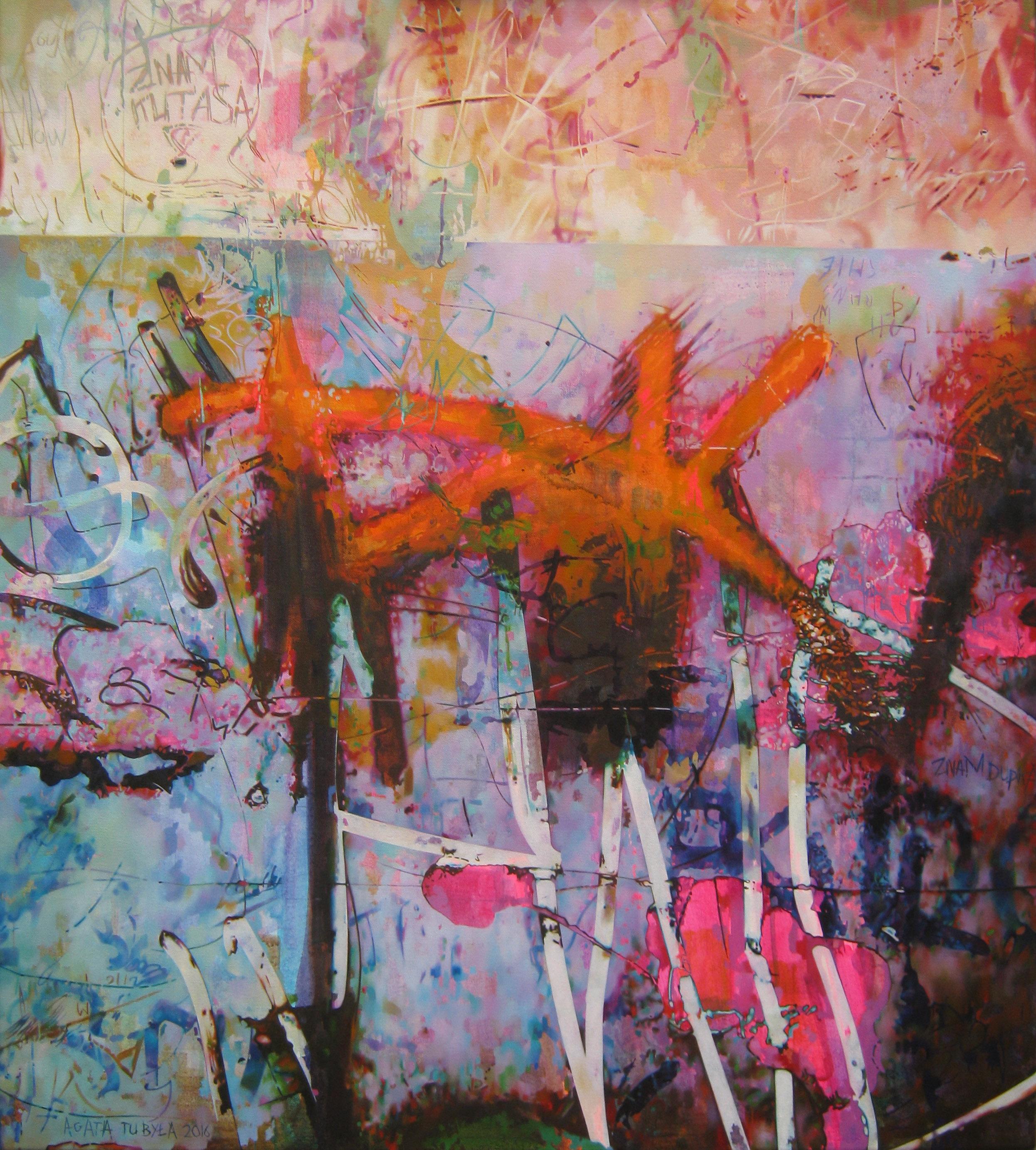 The Wall 70x80cm Oil & Acrylic