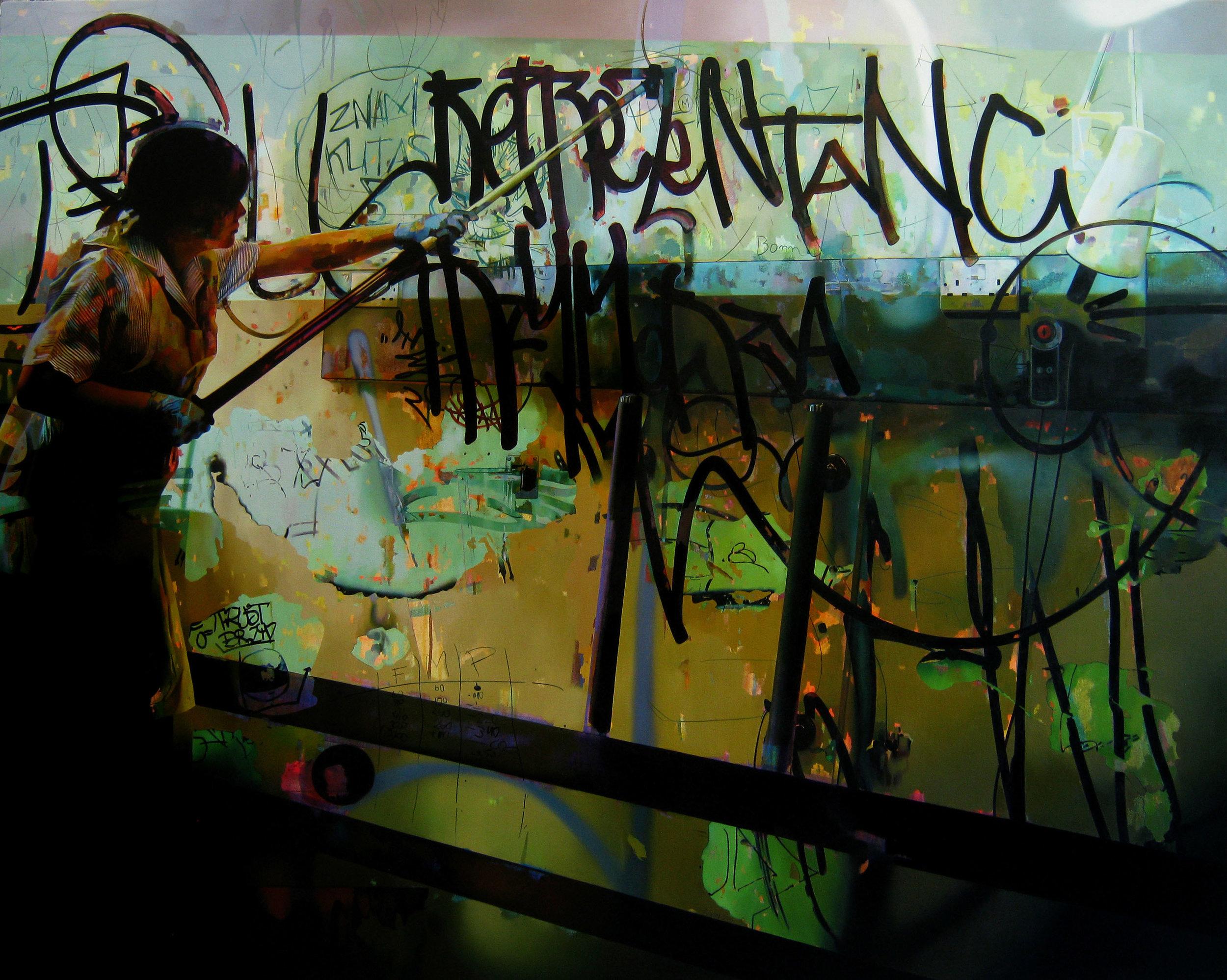 Assimilation 150x120cm Oil & Acrylic on canvas