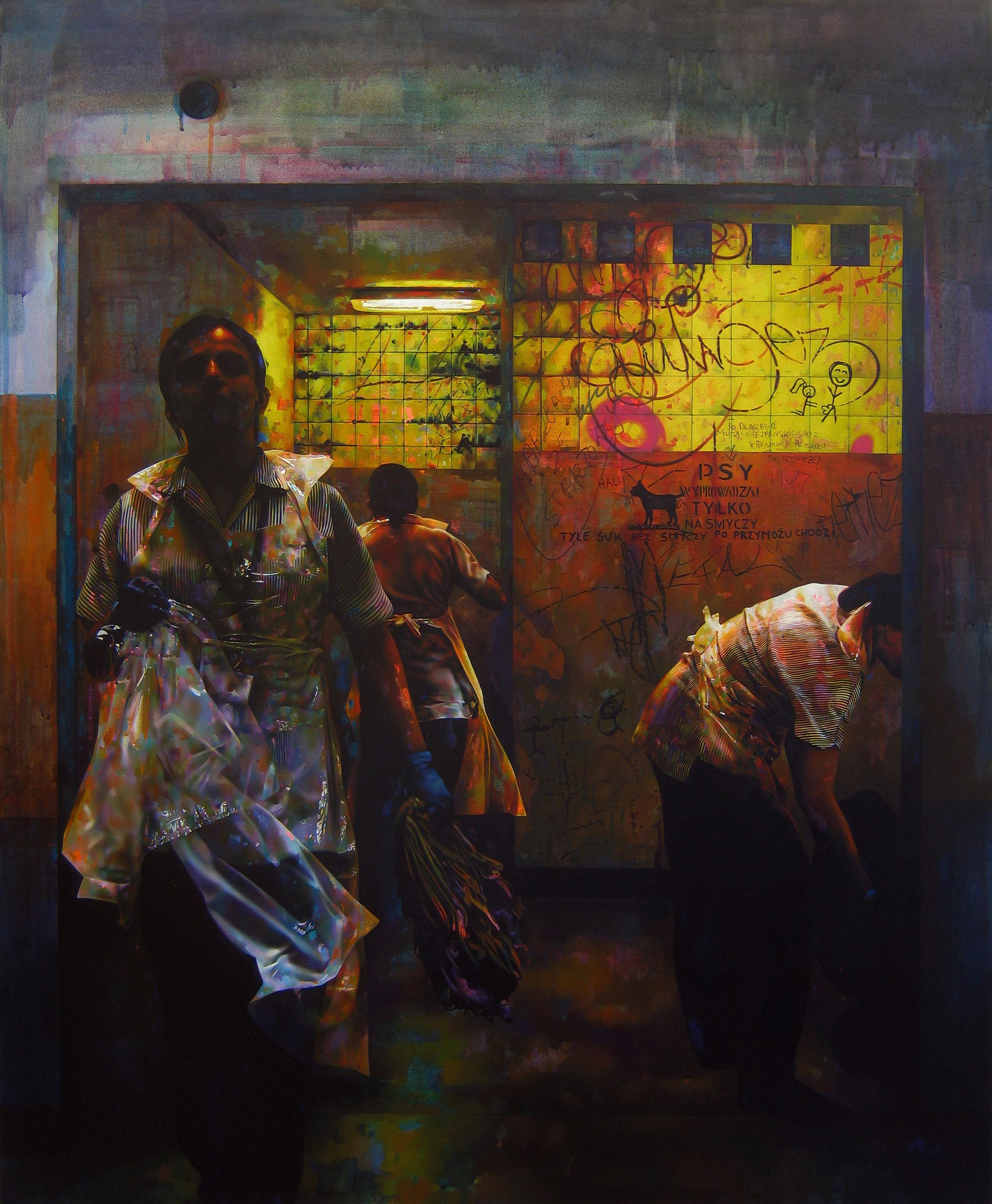 Labour 90x110cm Oil & Acrylic on Canvas