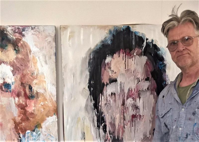 Tim Fawcett in his studio