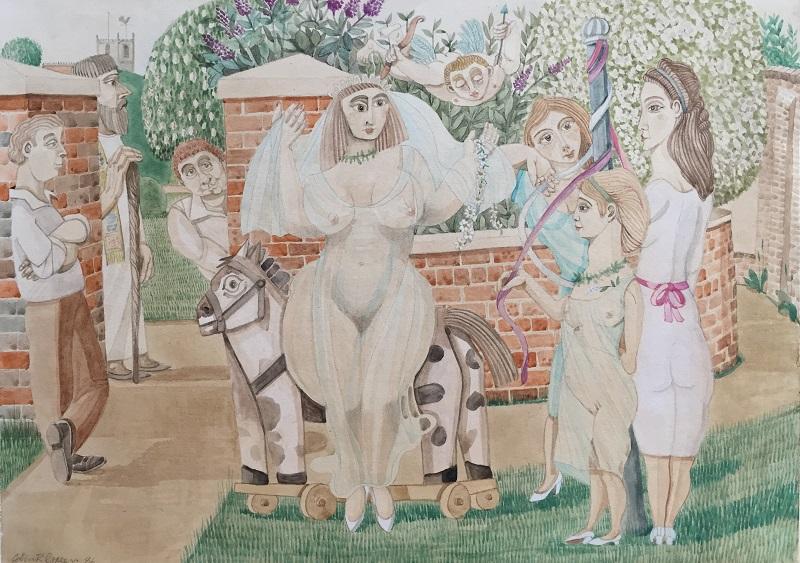The Bride watercolour 32x24cm frame 53x42cm £500