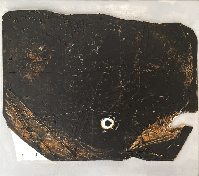The Whale mixed media 30x26.5cm frame 46x42.5cm £350