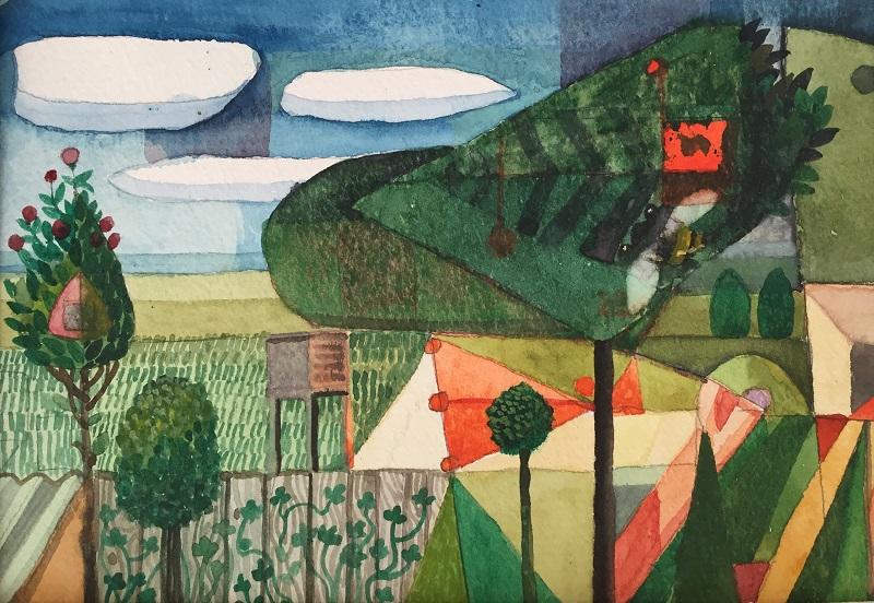 Klee Landscape watercolour 21x14cm £220