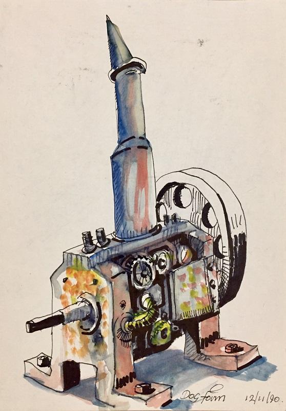 Dog Form watercolour & ink 15x21cm frame 30x40cm £210