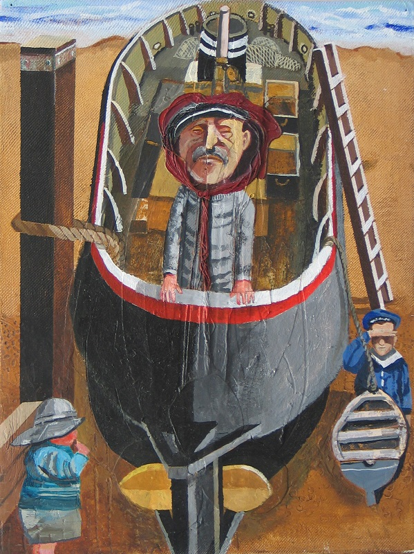 Alfred Wallis is Onboard mixed media 30x40cm frame 46x 56cm £490