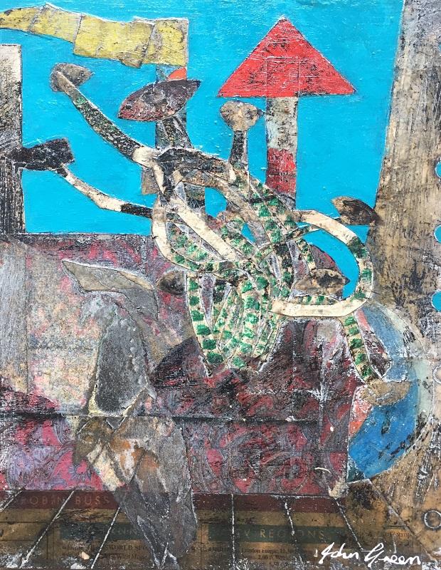 Objects in a Seascape II 17x21cm frame 30x40cm £220