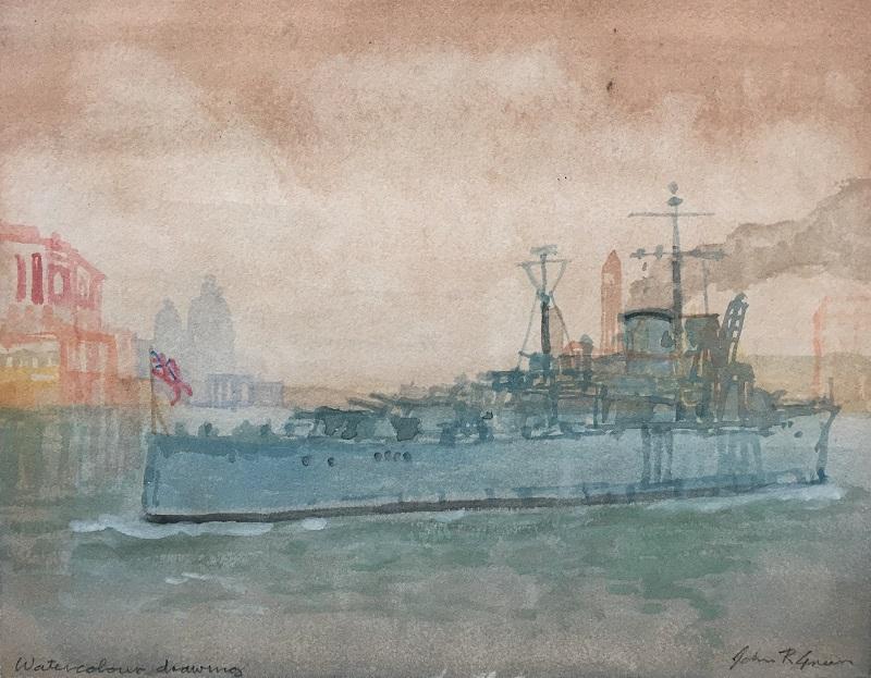 Harbour Approach watercolour £200