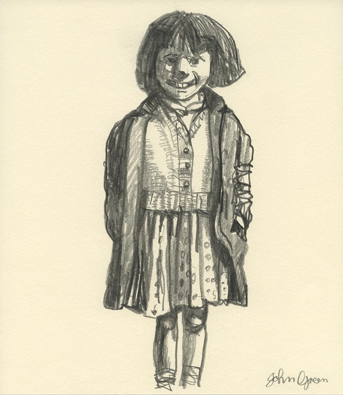 Little Girl Laughing conte drawing 20x30cm £210