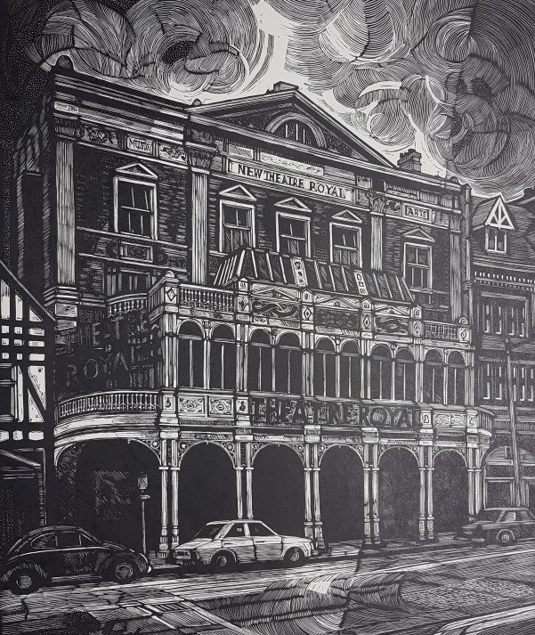 New Theatre Royal Portsmouth engraving