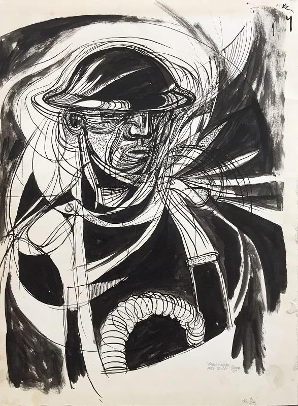 War Series ink drawing