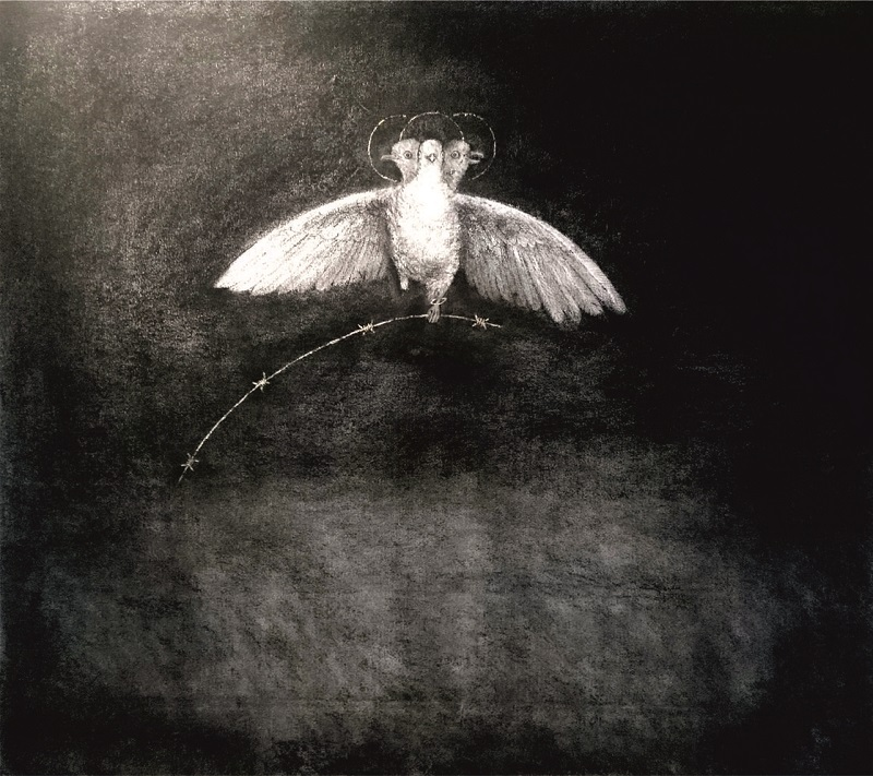 Holy Spirit Pigeon 122x110cm
