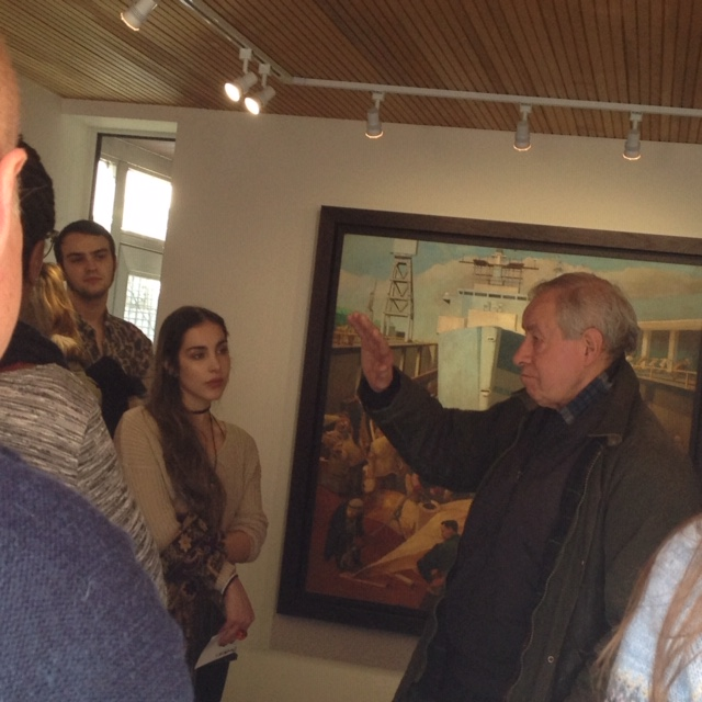 Artist John Green talking about his years in the Portsmouth Dockyard to University students 2016