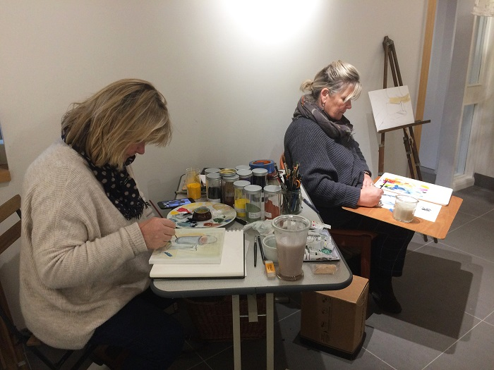 The Mair sisters at work