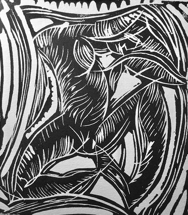 John Parfitt 'Ebb & Flow' linocut