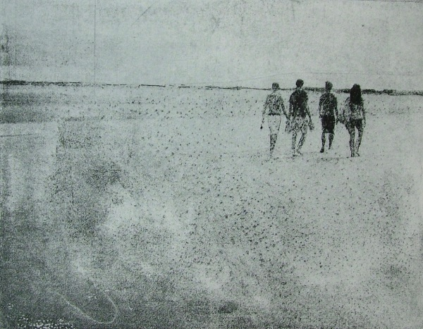 Emma Buckmaster 'Walking' etching
