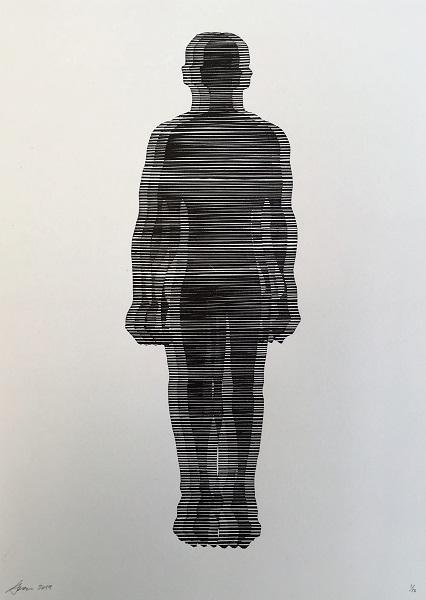 Ewan Stewart 'Passenger' linocut