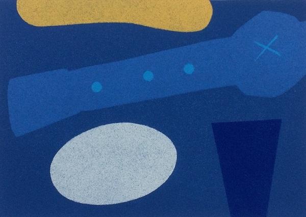 Michael Kennedy 'Ocean Journey 2' linocut & stencils