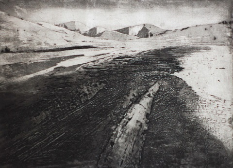 Giulio Bonatti 'North' etching & collograph