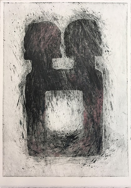 Bronwen Paterson 'Reflect' monoprint